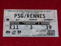 [Sammlung Sport Fußball] Ticket Psg / Rennes 20 Mai 2003 Champ.france