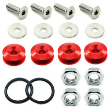 Aluminum Quick Release Fasteners For Fender Car Bumper Trunk Hatch Fixed Kit Red