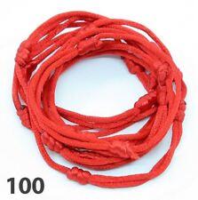 100 bracelets ROUGE à cordon chanceux kabbale faits main pour succès et chance