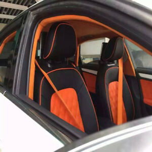 4.8cm Orange Auto Racing Car Harness 3 Point Front Safety Retractable Seat Belt*