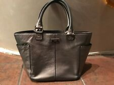KATE SPADE NEW YORK SILVER LEATHER HAND BAG