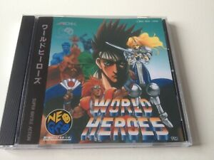 SNK Neo Geo CD CDZ World Heroes ADK cover and case replacement