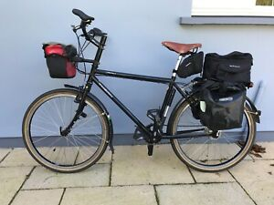 Thorn Raven Tour Rohloff Top quality touring bicycle Black, size S/M