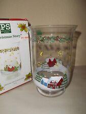 Portmeirion A Christmas Story Glass Hurricane Candle Holder