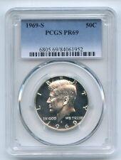 1969 S 50C Kennedy Half Dollar PCGS PR69