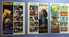 Japanese Animation Heros & Heroine 3sheets,total 30stamps,N0.1~No.3,