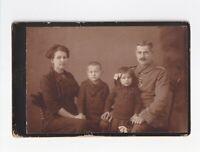 CAB Foto Soldat + Orden mit Familie - Mühlberg 1910er