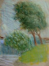 ILLUSTRATORS  WINDSWEPT BUSHES BY A RIVER  SUSAN BEATRICE PEARSE C1900