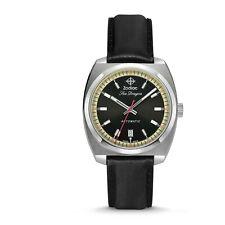 Zodiac Sea Dragon Zo9910 Black Dial Leather Strap Swiss Made Automatic Watch
