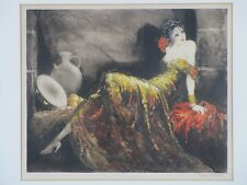 "Louis Icart - Original 1939 Etching ""Gay Senorita Gitane"" Hand-signed by Artist"