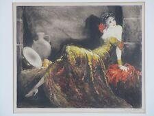 """Louis Icart - Original 1939 Etching """"Gay Senorita Gitane"""" Hand-signed by Artist"""