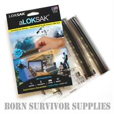 GENUINE aLOKSAK WATERPROOF STORAGE BAG 6 x 6 - Grip Seal Camera Loksak Dry Sack