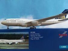 Herpa Wings 1:500 531306 United Airlines b747-400 747 Farewell Flight n118ua