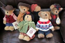 Lot of 6 Boyds Bears Bailey & Friends Bailey and Edmund Bears w/Tags/Western