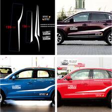 2x Auto Car Truck Vechile Stripe Racing Graphic Decal Sticker Set White Stylish