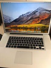 "MacBook Pro 17"" (Mid 2010) 8GB memory 2.66GHz i7 500GB SSD"