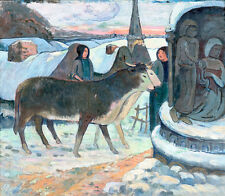 Christmas Night-The Blessing of the Oxen by Paul Gauguin 75cm x 65cm Art Print