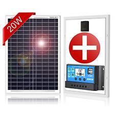 20W Solar Panel Kit Solar Regulator Charge 12V Battery Ideal Caravan Boat Shed