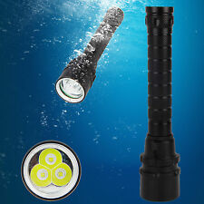 Waterproof 30W 10000Lm 3X XM-L2 LED Super Bright Scuba Diving Flashlight Torch