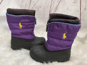 Ralph Lauren Polo Kids Snow Winter Boots Size UK 11, EU 28