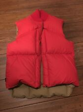 Vintage Polo Ralph Lauren Orange Down Vest Men Size M