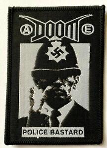 DOOM - Police Bastard - Woven Patch Rare Crust Hardcore Punk aufnäher écusson