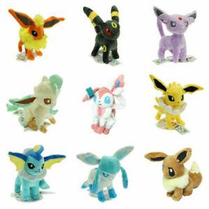 Pokemon Center Evolution of Eevee Umbreon Espeon Sylveon Plush Toys Gift