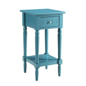 Convenience Concepts French Country Khloe Accent Table, Blue - 6052201BE