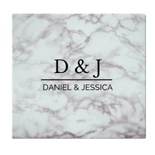 PERSONALISE MARBLE EFFECT GLASS CHOPPING BOARD HOUSE WARMING WEDDING ANNIVERSARY