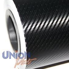 3D Fibre De Carbone / Fibre Vinyle Texturé Vélo Voiture Wrap sans Bulles 1520mm x 200mm