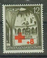 Generalgouvernement Briefmarken 1940 Rotes Kreuz Mi 52 **