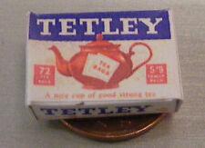 Escala 1:12 vacía Tetley papeles paquete Casa de muñecas en miniatura de cocina Accesorio