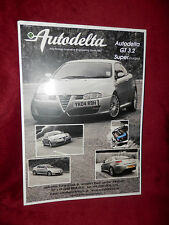 AUTODELTA GT 3.2 Super Charged UK 2005 Press Release brochure ALFA ROMEO
