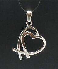 Colgante de plata de ley corazón Valentín 925 CHARM PE000204 SÓLIDO EMPERATRIZ