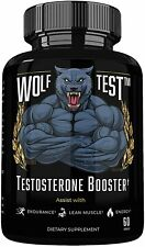 WOLF TEST - Natural Testosterone Booster and PCT  Great for Strength and Stamina
