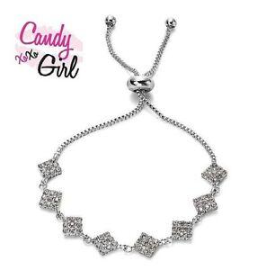 Silver Crystal Diamante CZ Sparkling Tennis Bracelet