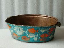 Vintage Norma Child's Tin Litho Basin Beach Toy, USSR,1970-80