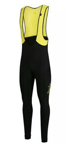 Rapha Classic Winter Tights + Pad Black/Chartreuse BNWT Size M