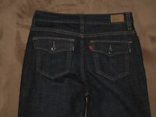 Levis 512 Size 8 Short Perfectly Slimming Flap Pocket Boot Cut Dark Blue Stretch