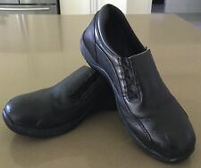 Quality BLUNDSTONE Womens Black Slip-On Steel Cap Work Shoes Size 9