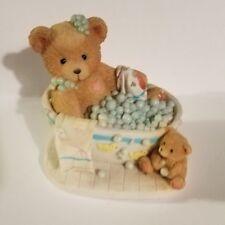 "Teddy Bear Figurine - Betty Bubbles Over P. Hillman appx. 3""T x 3.5""W x 2""L Vg"