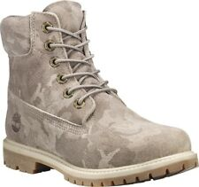 Timberland 6in Premium Suede WP Boot Pure Cashmere Camo Suede 6 Wide