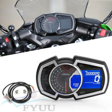 LCD 13000RPM Odometer kmh mph RPM Speed Fuel Gauge For 1,2,4 Cylinder Motorcycle
