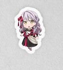"""Bang Dream, Bandori. Laminated 3"""" Sticker. Roselia Yukina Chibi"""
