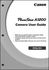Canon Powershot A1200 Digital Camera User Guide Instruction  Manual