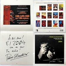Pedro Almodovar Calendar- Posters of the Filmography Hand signed in person