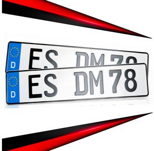 2  Kennzeichen 520 x 110mm | Nummernschild | Autokennzeichen | Versand kostenlos