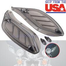 Smoke Adjustable Batwing Fairing Air Deflectors For Harley Touring Street Glide
