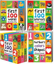 First 100 Box Set Colors,Animals,Numbers,Shapes +by Roger Priddy 3 Board Books