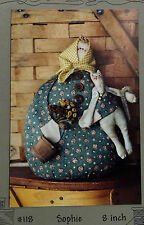 "NEW 1997 SEWING PATTERN Primitive 8"" Fabric Doll, Kitty Cat & Clothing"
